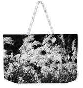 Weed Grass Black And White Weekender Tote Bag