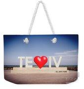 Welcome To Tel Aviv Port Weekender Tote Bag