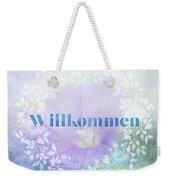 Welcome - Willkommen Weekender Tote Bag
