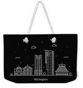 Wellington Skyline Travel Poster Weekender Tote Bag