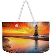 Welsh Lighthouse Sunset Weekender Tote Bag
