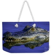 Wetlands Gator Close-up Weekender Tote Bag by Tom Claud