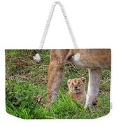 What Could Be Cuter Than A Baby Lion Cub? Weekender Tote Bag