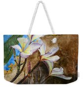White Flower With Abstract Background Weekender Tote Bag