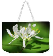 White Honeysuckle Flowers Weekender Tote Bag