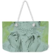 White Lace And Green Eyes Weekender Tote Bag