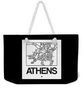 White Map Of Athens Weekender Tote Bag