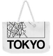 White Map Of Tokyo Weekender Tote Bag