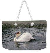 White Swan On Lake Weekender Tote Bag