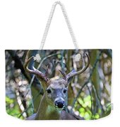 White Tailed Buck Portrait Weekender Tote Bag