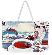 White Tea In Blue And White Weekender Tote Bag