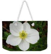 White Wood Anemone Weekender Tote Bag