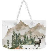 Wild Alaska Travel Poster Weekender Tote Bag by Celestial Images