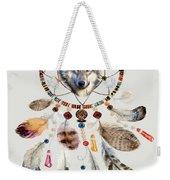 Wild And Free Wolf Spirit Dreamcatcher Weekender Tote Bag