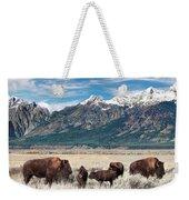 Wild Bison On The Open Range Weekender Tote Bag