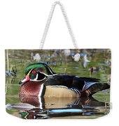 Wild Wood Duck On The Old Mill Pond  Weekender Tote Bag