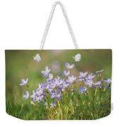 Wildflowers Thyme Leaf Bluets Weekender Tote Bag by Rima Biswas