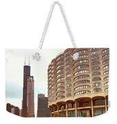 Willis Tower To The Left Weekender Tote Bag by Lorraine Devon Wilke