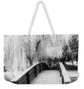 Willow Tree Over The Bridge Weekender Tote Bag