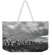 Windy Evening Calgary Downtown Bw Weekender Tote Bag