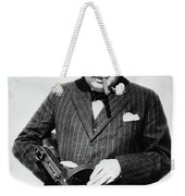 Winston Churchill With Tommy Gun Weekender Tote Bag