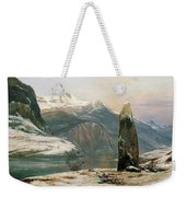 Winter At The Sognefjord - Digital Remastered Edition Weekender Tote Bag