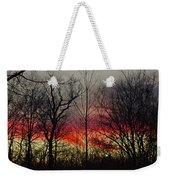 Winter Evening Weekender Tote Bag