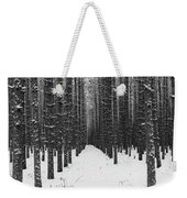 Winter Forest In Black And White Weekender Tote Bag
