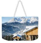 Winter Landscape On The Italian Dolomites Weekender Tote Bag
