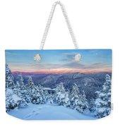 Winter Light, Mountain Views Weekender Tote Bag by Jeff Sinon