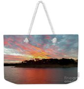Winter Morning Sky Weekender Tote Bag