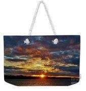 Winter Sunset Over Grand Island Weekender Tote Bag