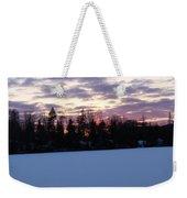 Winter Sunsets Weekender Tote Bag