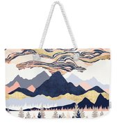 Winter's Sky Weekender Tote Bag