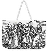 Witches Dancing With The Devil, Illustration From Compendium Maleficarum Weekender Tote Bag