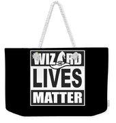 Wizard Lives Matter Retro Halloween Sorcerer Dark Weekender Tote Bag