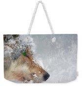 Wolf In The Snowstorm - Painting Weekender Tote Bag