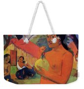 Woman Holding A Fruit 1893 Weekender Tote Bag