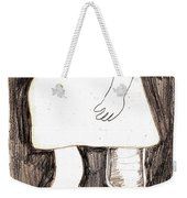 Woman With A Wooden Leg Drawing Weekender Tote Bag