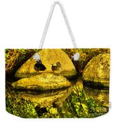 Wood Duck Pair And Their Reflection Weekender Tote Bag
