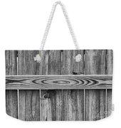 Wood Grain Black And White Weekender Tote Bag