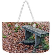 Wooden Autumn Bench Weekender Tote Bag by Scott Lyons