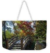 Wooden Bridge In Japanese Garden Weekender Tote Bag by Jemmy Archer