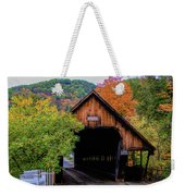 Woodstock Middle Bridge In October Weekender Tote Bag by Jeff Folger