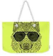 Woolf In Black Glasses Weekender Tote Bag
