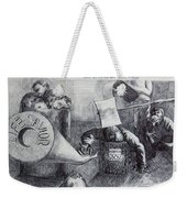 Would You Die For Him Weekender Tote Bag by Anthony Falbo
