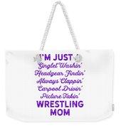 Wrestling Singlet Washin Mom Purple Gift Dark Weekender Tote Bag