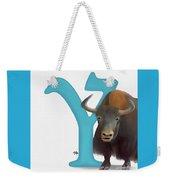 Y Is For Yak Weekender Tote Bag