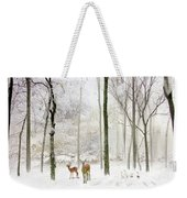 Forest Winter Visitors Weekender Tote Bag