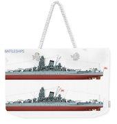 Yamato Class Battleships Port Side Weekender Tote Bag